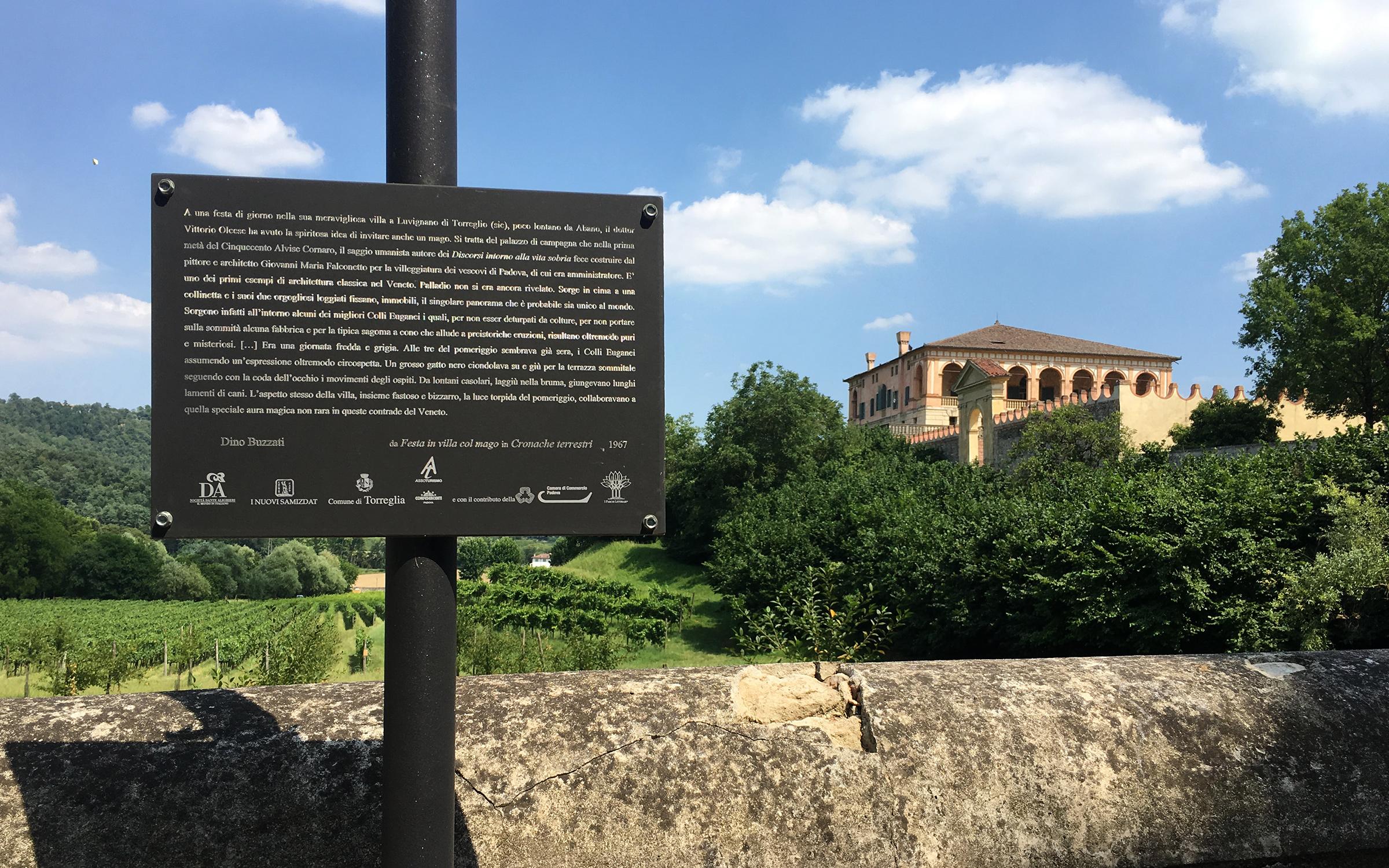 Dino Buzzati a Villa dei Vescovi